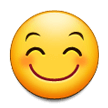 Smiling Face with Smiling Eyes on Samsung Experience 8.1