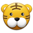Tiger Face on Samsung Experience 8.1