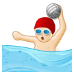 Person Playing Water Polo: Light Skin Tone on Samsung Experience 8.1