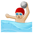 Person Playing Water Polo: Medium-Light Skin Tone on Samsung Experience 8.1