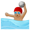 Person Playing Water Polo: Medium Skin Tone on Samsung Experience 8.1