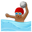 Person Playing Water Polo: Medium-Dark Skin Tone on Samsung Experience 8.1
