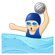 Woman Playing Water Polo: Light Skin Tone on Samsung Experience 8.1