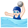Woman Playing Water Polo on Samsung Experience 8.1