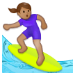 Woman Surfing: Medium Skin Tone on Samsung Experience 8.1