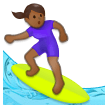 Woman Surfing: Medium-Dark Skin Tone on Samsung Experience 8.1