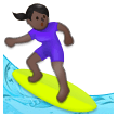 Woman Surfing: Dark Skin Tone on Samsung Experience 8.1