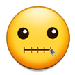 Zipper-Mouth Face on Samsung Experience 8.1