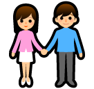 Woman and Man Holding Hands on SoftBank 2014
