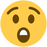 Astonished Face on Twitter Twemoji 2.3