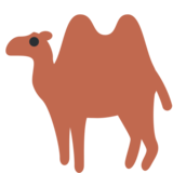 Two-Hump Camel on Twitter Twemoji 2.3