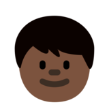 Child: Dark Skin Tone on Twitter Twemoji 2.3