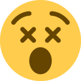Dizzy Face on Twitter Twemoji 2.3
