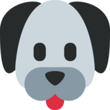 Dog Face on Twitter Twemoji 2.3