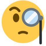 Face With Monocle on Twitter Twemoji 2.3