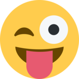Winking Face with Tongue on Twitter Twemoji 2.3