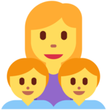 Family: Woman, Boy, Boy on Twitter Twemoji 2.3