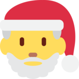 Santa Claus on Twitter Twemoji 2.3