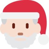 Santa Claus: Light Skin Tone on Twitter Twemoji 2.3