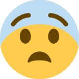 Fearful Face on Twitter Twemoji 2.3
