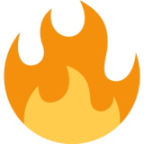 Fire on Twitter Twemoji 2.3