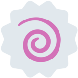 Fish Cake with Swirl on Twitter Twemoji 2.3
