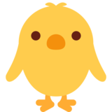 Front-Facing Baby Chick on Twitter Twemoji 2.3