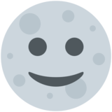 Full Moon Face on Twitter Twemoji 2.3