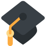 Graduation Cap on Twitter Twemoji 2.3