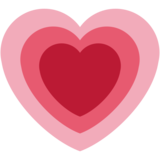 Growing Heart on Twitter Twemoji 2.3