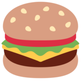 Hamburger on Twitter Twemoji 2.3