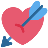 Heart with Arrow on Twitter Twemoji 2.3
