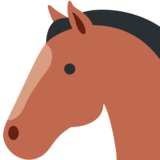 Horse Face on Twitter Twemoji 2.3