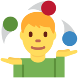 Person Juggling on Twitter Twemoji 2.3