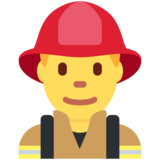 Man Firefighter on Twitter Twemoji 2.3