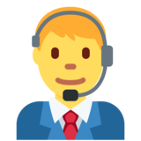 Man Office Worker on Twitter Twemoji 2.3