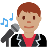 Man Singer: Medium Skin Tone on Twitter Twemoji 2.3