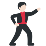 Man Dancing: Light Skin Tone on Twitter Twemoji 2.3