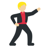 Man Dancing: Medium-Light Skin Tone on Twitter Twemoji 2.3