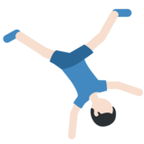 Man Cartwheeling: Light Skin Tone on Twitter Twemoji 2.3