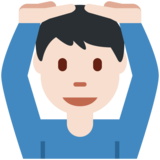 Man Gesturing OK: Light Skin Tone on Twitter Twemoji 2.3
