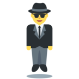 Person in Suit Levitating on Twitter Twemoji 2.3