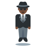 Person in Suit Levitating: Dark Skin Tone on Twitter Twemoji 2.3