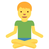 Man in Lotus Position on Twitter Twemoji 2.3