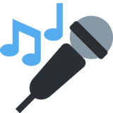 Microphone on Twitter Twemoji 2.3