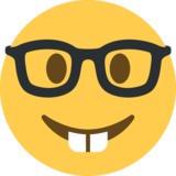 Nerd Face on Twitter Twemoji 2.3