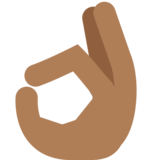 OK Hand: Medium-Dark Skin Tone on Twitter Twemoji 2.3