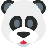 Panda Face on Twitter Twemoji 2.3