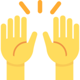 Raising Hands on Twitter Twemoji 2.3