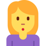 Person Pouting on Twitter Twemoji 2.3